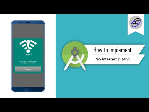 How to Implement No Internet Dialog in Android Studio | NoInternetDialog | Android Coding