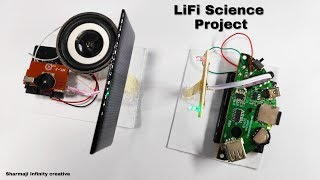 How to transmit Music with light | lifi project
