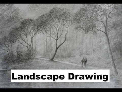 How to Draw Landscapes, The Graphite Powder Technique.