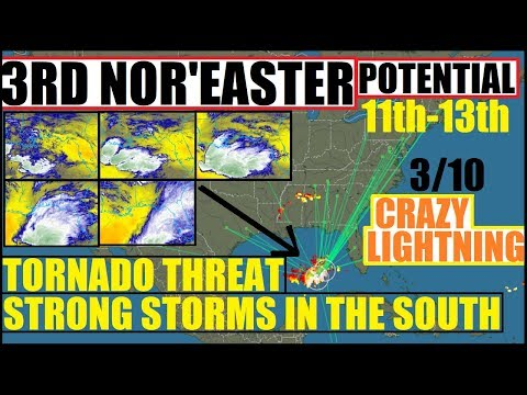 NOR'EASTER #3 On its WAY! TORNADO Watches and MASSIVE Moisture Explosion in GULF