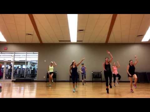 High-Low Impact Aerobics class with Eve Beardall. One hour of Cardio