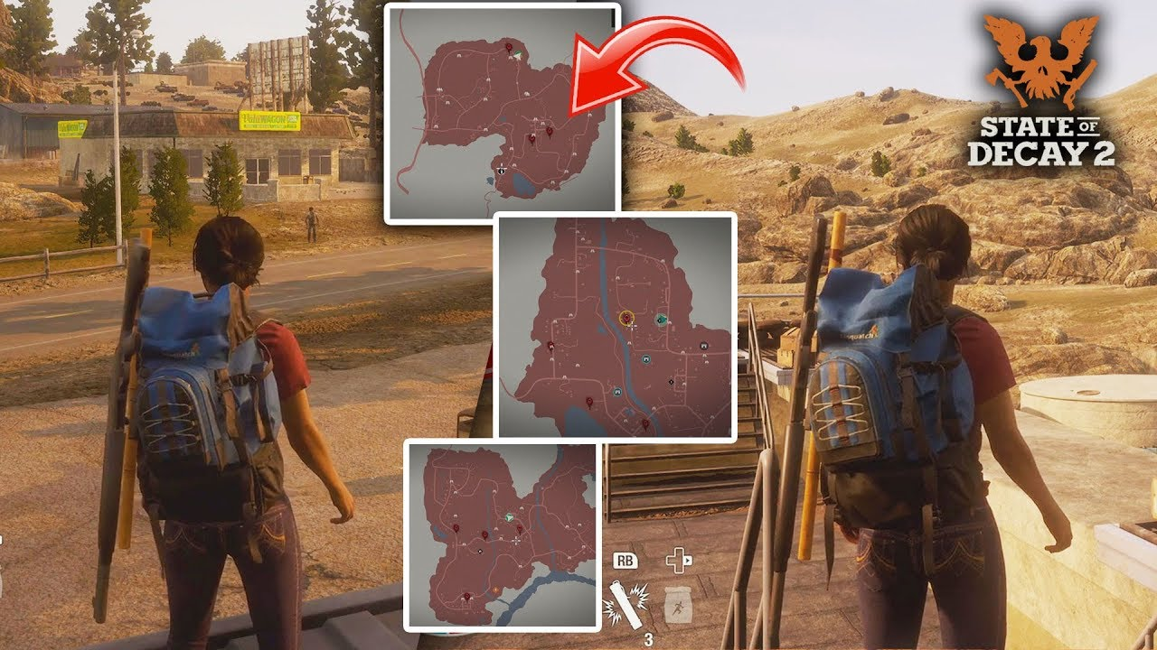 State of Decay 2 - ALL 3 MAPS Gameplay! Free Roaming Every Open World on indiana street map, iowa state map, ky state map, indiana counties map, illinois map, united states road map, bible belt states map, indiana united states map, mississippi map, indiana rd map, native american tribes map, county map, the state map, indiana road map, indiana state parks map, wyoming map,