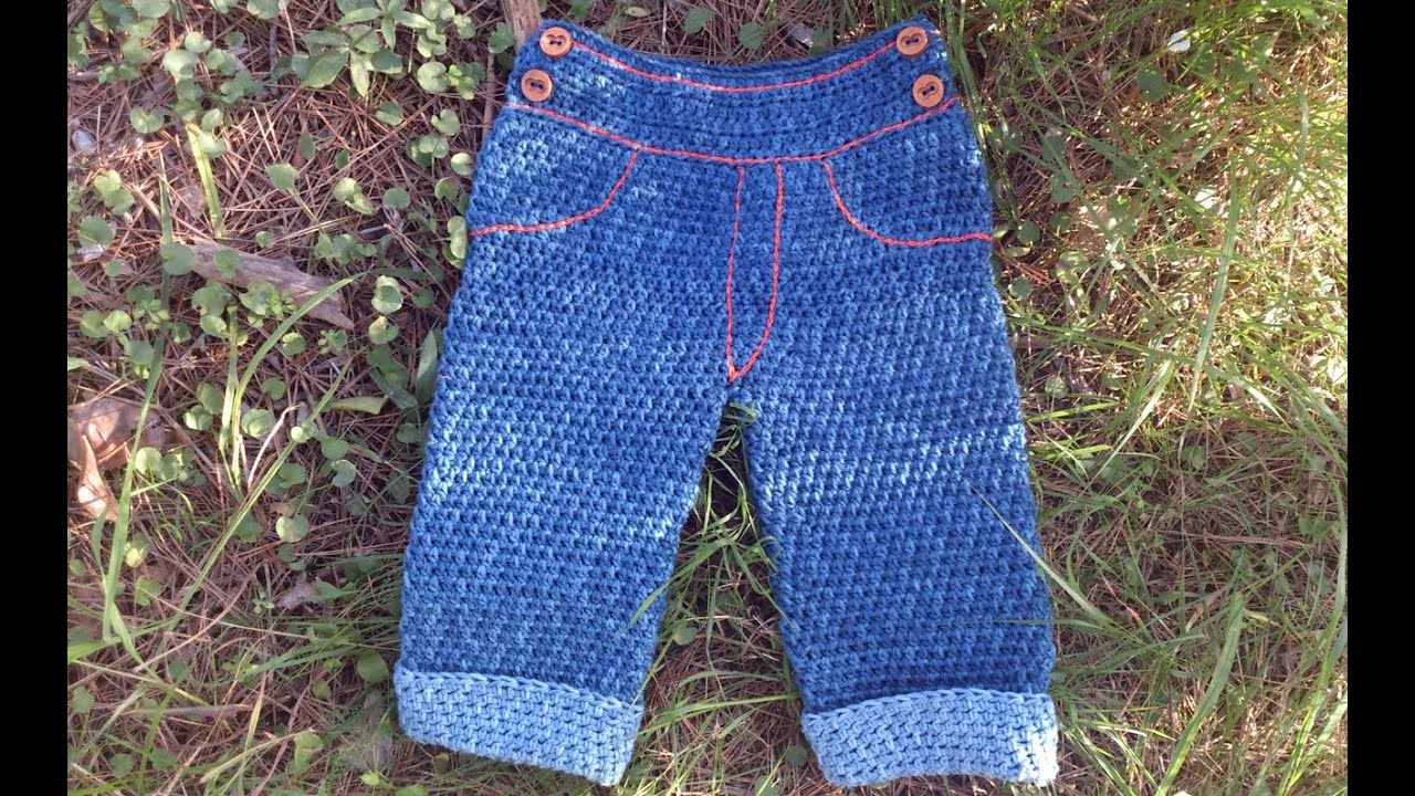 Pantalon vaquero a ganchillo para beb youtube - Fundas para cochecitos de bebe ...