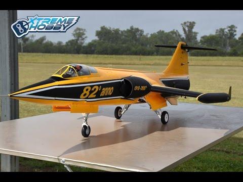 Freewing F-104 Starfighter Yellow 90mm EDF Jet
