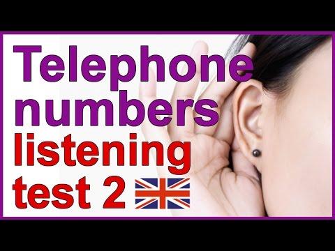Telephone numbers | English listening test