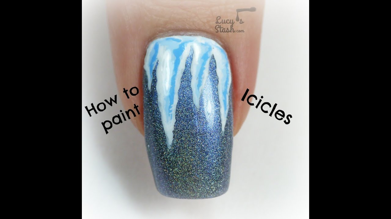 Frozen Icicles Nail Art Tutorial - Winter design for ...