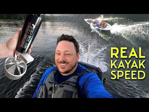 11.5 Mph on a KAYAK! Stable High speed Electric Kayak Motor! LAKE TEST fail and SUCCESS!