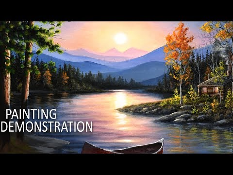 How to Paint Water and Reflections | Acrylic Painting ...