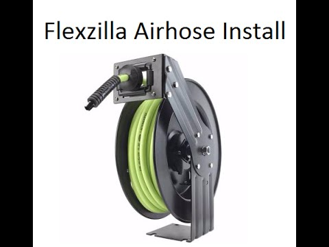 Install - Flexzilla Zillareel - Air Hose Reel - YouTube