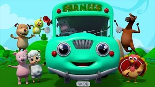 Wheels On The Bus | Nursery Rhymes | Farmees | Kids Songs | Childrens Video by Farmees S01E55