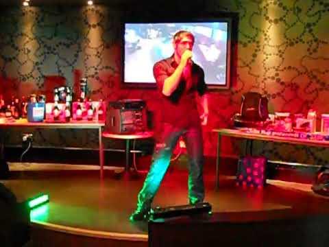 Keith Camilleri performing as Enrique Iglesias at G Casino Newcastle