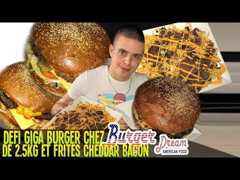 DÉFI GIGA BURGER chez BURGER DREAM ! + de 2.5 Kg avec FRITES CHEDDAR BACON ! (Recette + Dégustation)