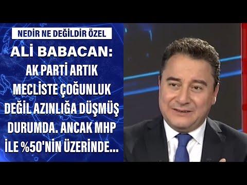 Ali Babacan: AK Parti artık mecliste çoğunluk değil azınlığa düşmüş durumda.