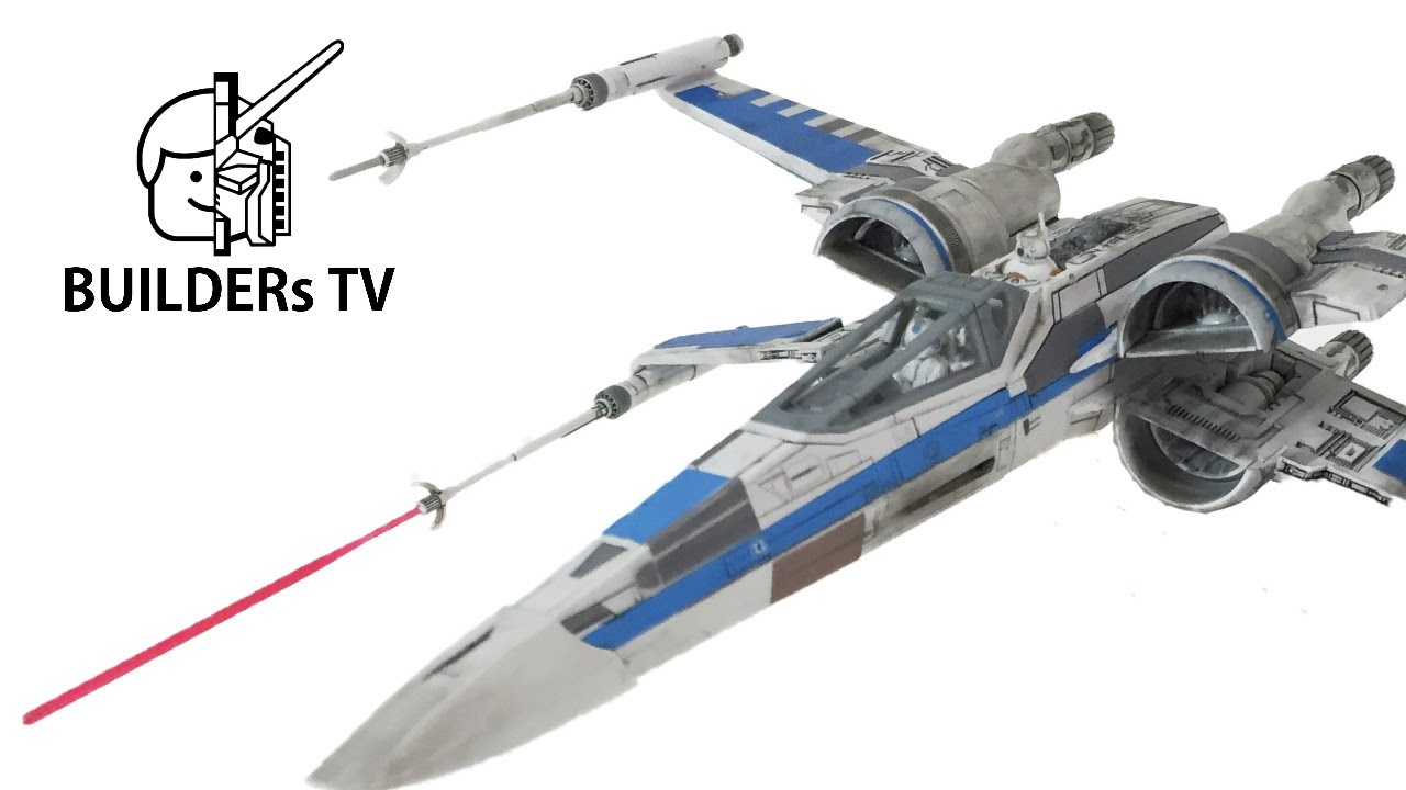 RESISTANCE X,WING FIGHTER STAR WARS BANDAI Plamodel Fast Build Up (스타워즈 저항군  X윙, Xウイング レジスタンス仕様, T70)