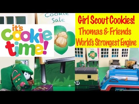 Thomas & Friends Girl Scout Cookies - World's Strongest Engine Toy Train Fun