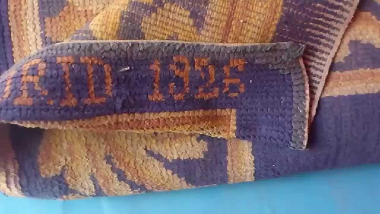 Alfombra espa ola 1926 limpieza y restauraci n eliminaci n de polvo antes del lavado youtube - Restauracion de alfombras ...