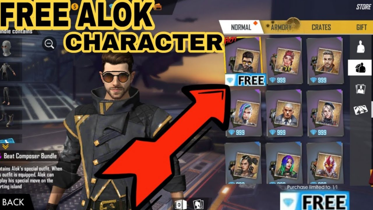 How To Buy Alok Character In Free Fire Working Trick Gaming God Youtube