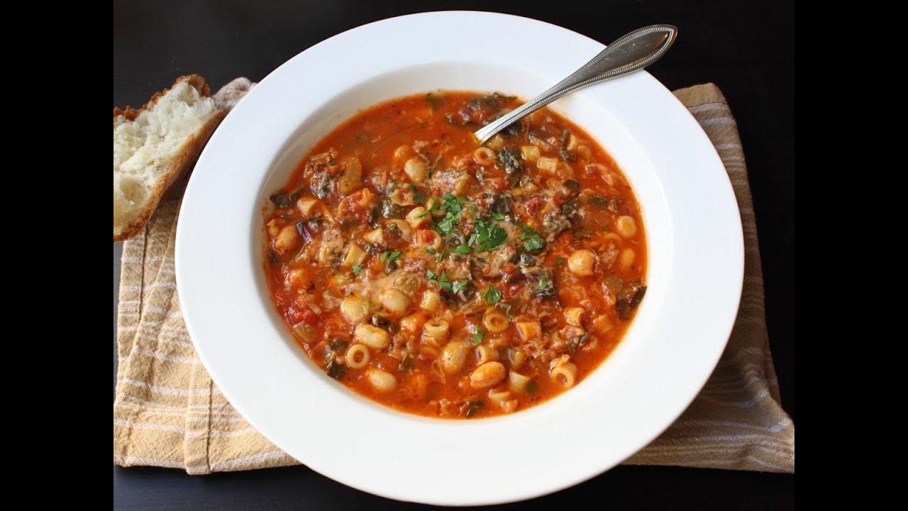 recipe: simple minestrone soup [37]