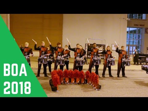 Owasso Drumline 2018: In The Lot
