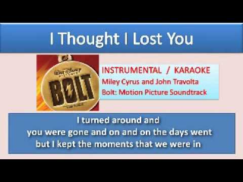 I Thought I Lost You - Karaoke / Instrumental with Lyrics on Screen