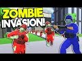 MASSIVE ZOMBIE ARMY INVASION VS NUKE! - Ravenfield Mods Gameplay - Zombie Survival