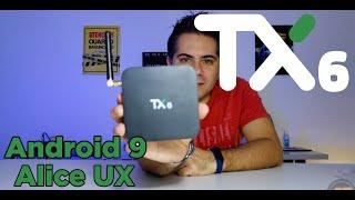 Nova TV BOX TX6 Com Android 9 e Interface Alice UX