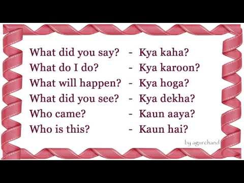 WH Question - Learn Hindi through English!