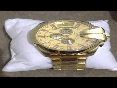 f88f8879a7c8e Relógio Diesel 10 Bar Dourado Primeira Linha Excelente. - YouTube