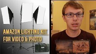 Amazon Softbox Lighting Kit set up - Video Timelapse