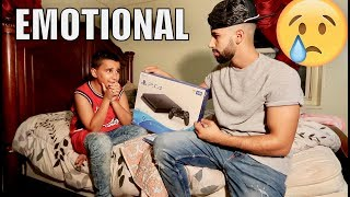 Surprised Him With his First Ever PlayStation 4!! (EMOTIONAL)