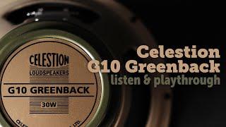 Celestion G10 greenback