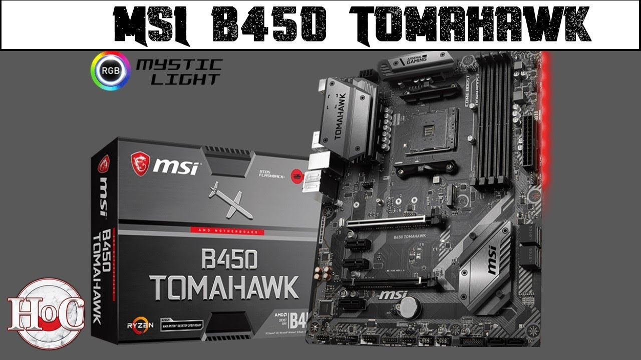 MSI B450 TOMAHAWK Full ATX with Heatsink
