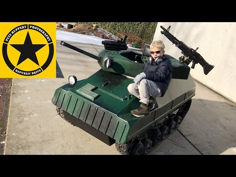 Toy Tank For Children👍 Little Hero Jack Presenting