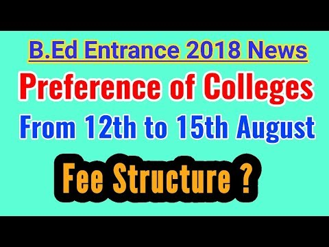 GU B.Ed Entrance Latest Updates, Preference Of Colleges & Fee Structure.