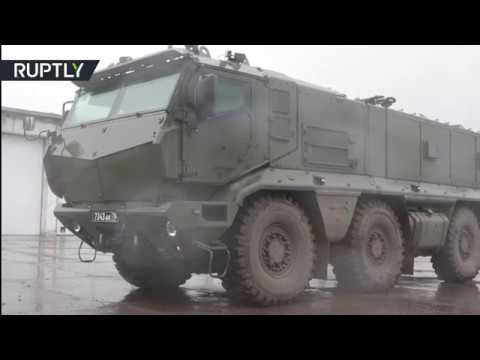 RAW: Brand new Kamaz Typhoons take part in Russia's Novosibi