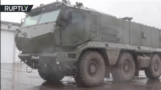 RAW: Brand new Kamaz Typhoons take part in Russia's Novosibirsk drills