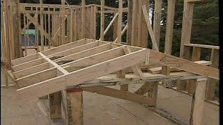 этап 16.  Устройство двухскатной крыши в каркасном доме