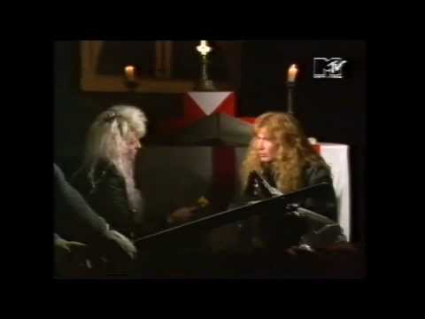 Megadeth - Dave Mustain interview at the London Dungeon by Vanessa Warwick (1989)