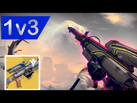 1v3 Trials against teabagger W/ Hereafter Exotic Sniper   Destiny
