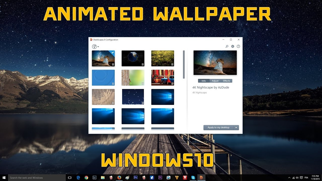 Windows 10 Animated Wallpaper Tutorial Free 2018 Youtube