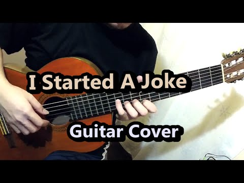 I Started A Joke - Bee Gees (Guitar Cover) - YouTube