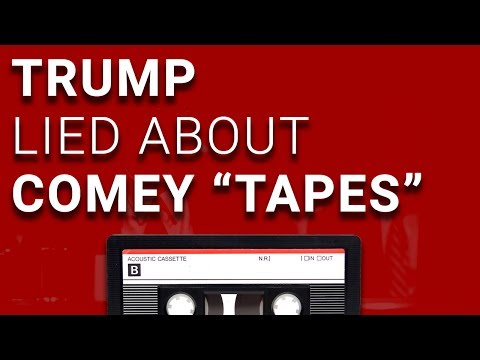 "Trump Admits He Lied About Comey ""Tapes"" to Influence His Testimony"