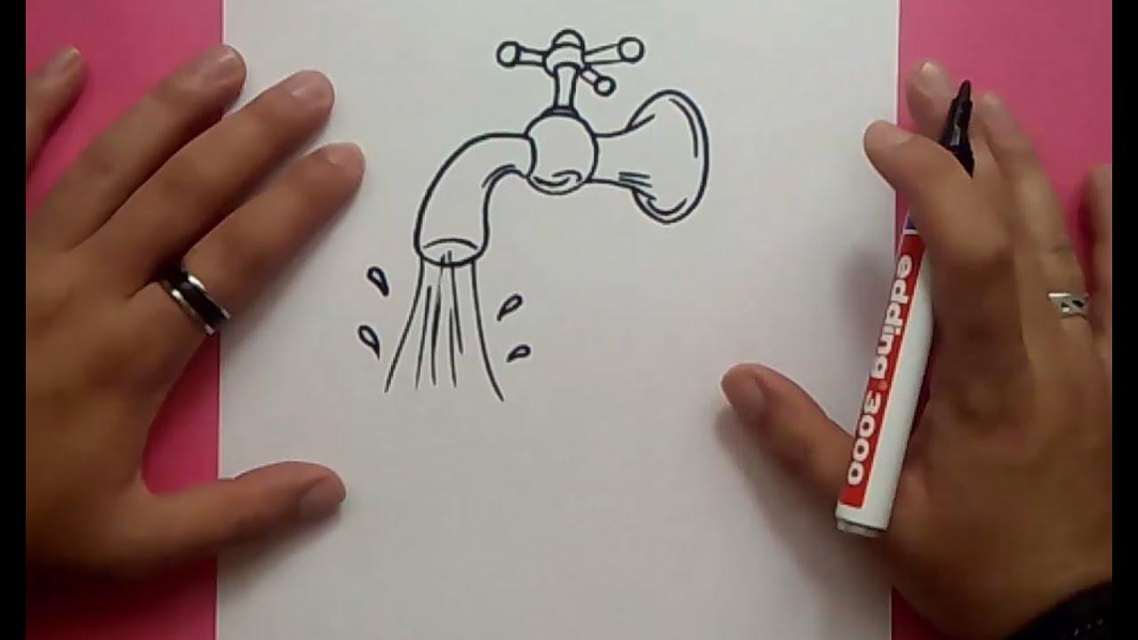Como Dibujar Un Grifo Paso A Paso How To Draw A Tap