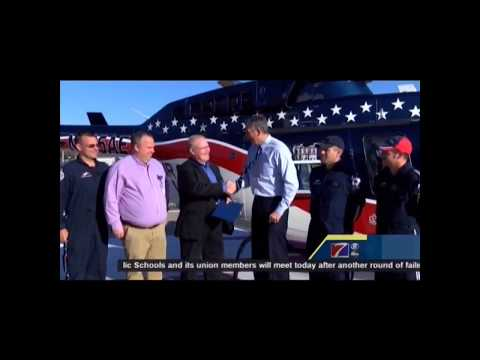 Presenting Quincy Air Evac with Congressional Record