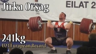 Jirka Orsag 241kg Clean and Jerk (U23 European Record)