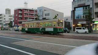 広島電鉄1900形1913号『嵯峨野』広電本社前〜日赤病院前