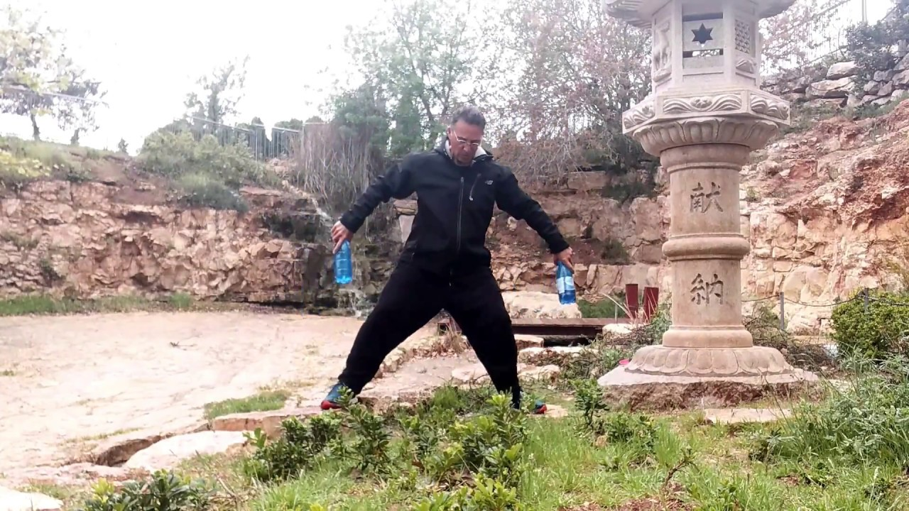 Master Gad Levy Golan at the Japanese Garden. weights Tai chi Gong. - YouTube