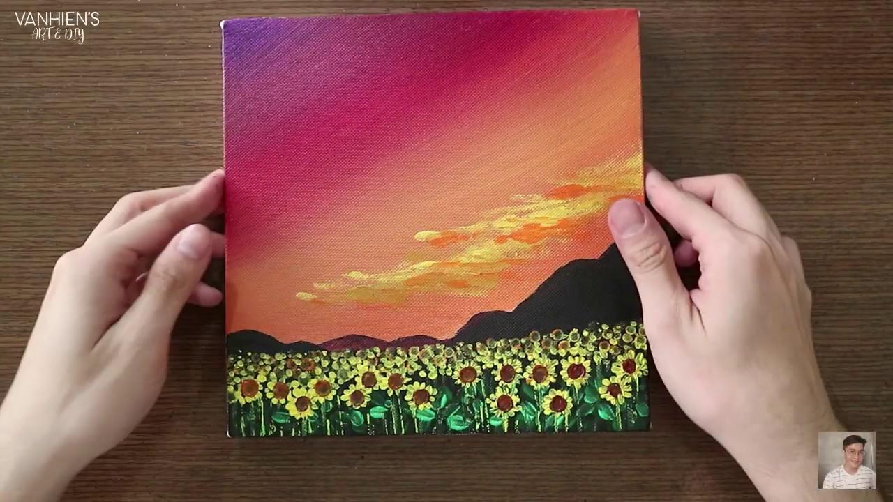 ART#25 | Acrylic Painting – Cánh đồng hoa hướng dương | Field of sunflowers