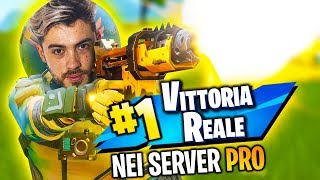 VITTORIA REALE in un CUSTOM SERVER di PRO PLAYER! | FORTNITE ITA