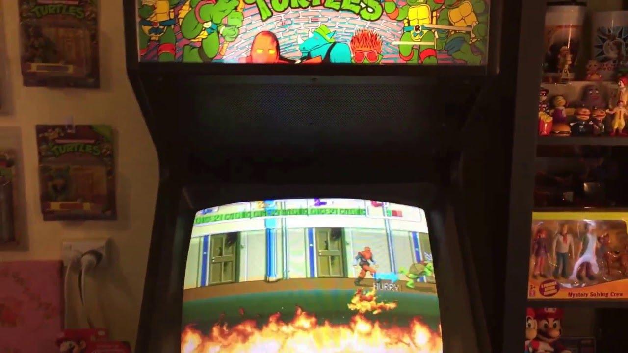 Ninja Turtles Arcade Cabinet Tmnt Collection Part 10 Tmnt Arcade Machine 1989 Turtles